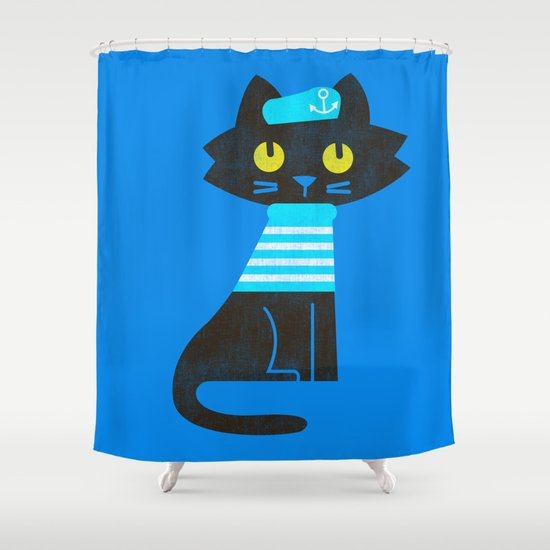 Fitz - Sailor cat Shower Curtain
