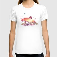 Woodlands Fox Womens Fitted Tee White SMALL