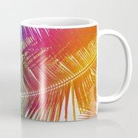 Neon Rainbow palm Mug