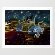 Do aliens get lonely as the lights begin to fade? Art Print