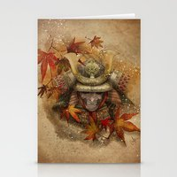 Late Autumn Samurai Stationery Cards
