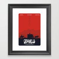Django Unchained - minimal poster Framed Art Print