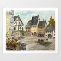German Village Art Print