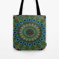 Peacock Abstract Tote Bag