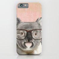 Funny koala with glasses iPhone 6 Slim Case