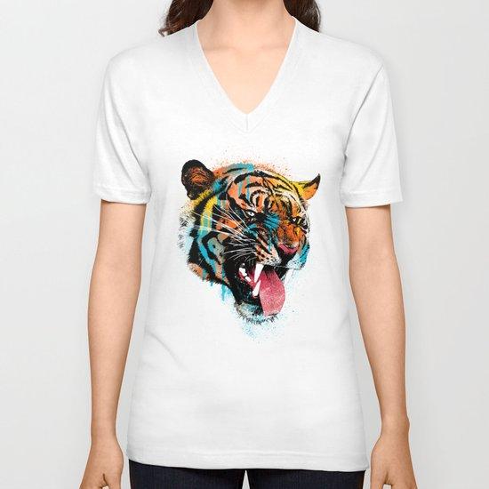 FEROCIOUS TIGER V-neck T-shirt