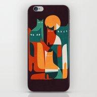 iPhone & iPod Skin featuring Cat Family by Budi Kwan