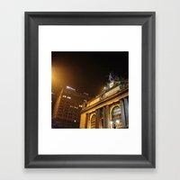 'GRAND CENTRAL NIGHT' Framed Art Print