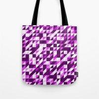 Purple Patchwork Tote Bag