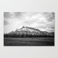 Mount Rundle In Banff Al… Canvas Print