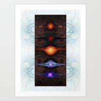 Radiant Suns Art Print