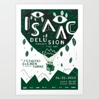 ISAAC DELUSION Art Print