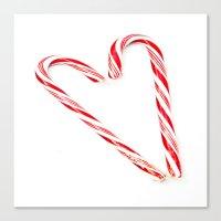 Candy Cane Love Canvas Print