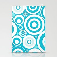 Soft Blue Circles Stationery Cards