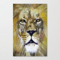 Title: Mesmerizing Lion … Canvas Print