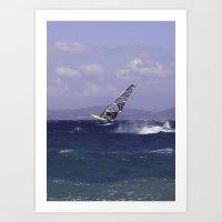 Catching Wind Art Print