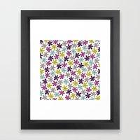 Allium Ditsy Framed Art Print
