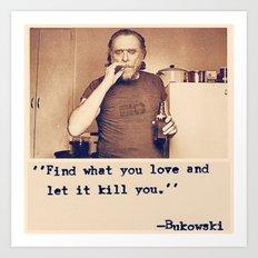 Charles Bukowski Quotes Art Print