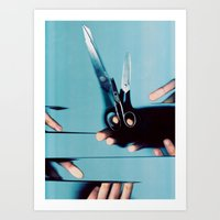 Cutting Everything Art Print