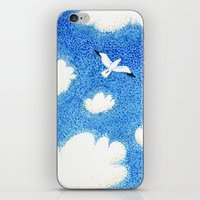 Seagull in the sky iPhone & iPod Skin