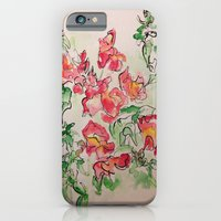 iPhone & iPod Case featuring Blind Contour Snapdragon by Teresa Cook