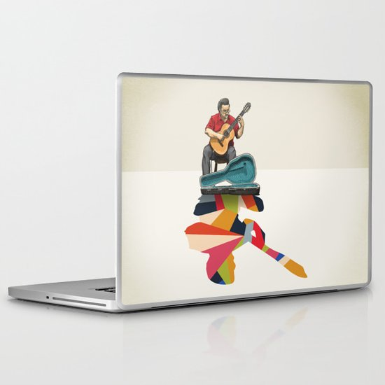 Walking Shadow, Guitarist Laptop & iPad Skin