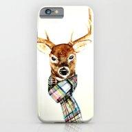 Deer Buck With Winter Sc… iPhone 6 Slim Case
