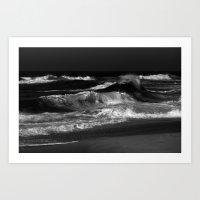 dramatic ocean Art Print