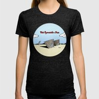 The Pyramids Of Pisa Womens Fitted Tee Tri-Black SMALL