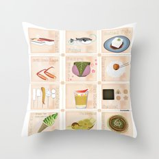 Japanese Food  Throw Pillow