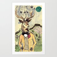 Stag Do Art Print