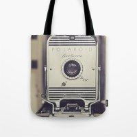 Vintage Polaroid Land Ca… Tote Bag