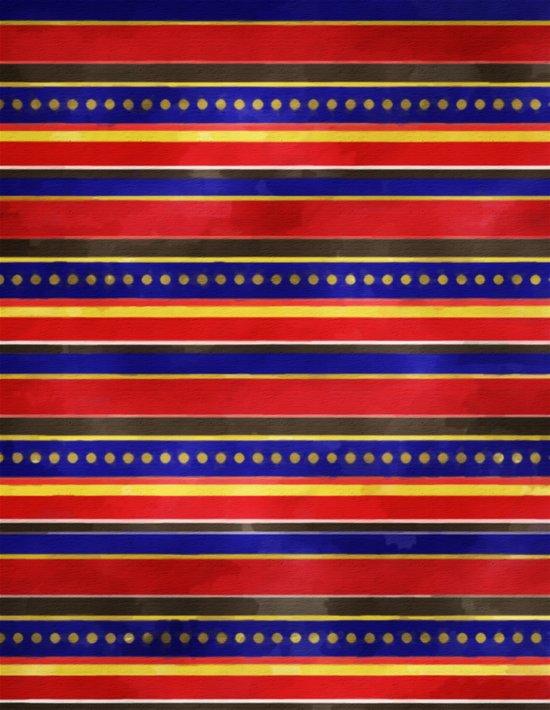 Stripes and Dots Art Print