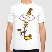 Thunderstruck Mens Fitted Tee White SMALL