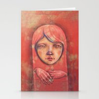 The Ghost In Pink Stationery Cards