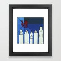 blue LOVE shine Framed Art Print