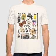 Sherlock Mens Fitted Tee Natural SMALL