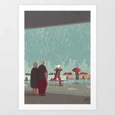Day Trippers #6 - Downpo… Art Print