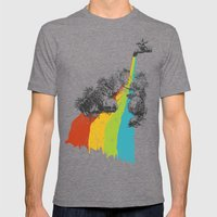 Eden Garden Mens Fitted Tee Tri-Grey SMALL