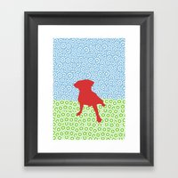 Doggy Os Framed Art Print