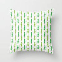 Forest Trees Throw Pillow