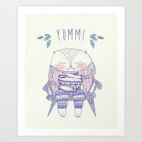 Yummi Cat Art Print