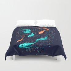 Neon Float Duvet Cover