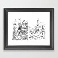Promenade Dans La Montag… Framed Art Print