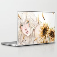 sunflower Laptop & iPad Skins featuring Sunflower by Alonzo Canto