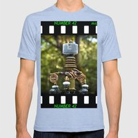 Mad Scientist Device Number 42 Mens Fitted Tee Tri-Blue SMALL