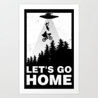 Let's go home Art Print