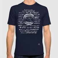 OMG! I AM A GAY VAMPIRE!! Mens Fitted Tee Navy SMALL