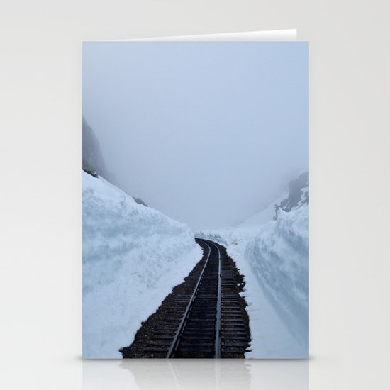 The winter pass Stationery Card
