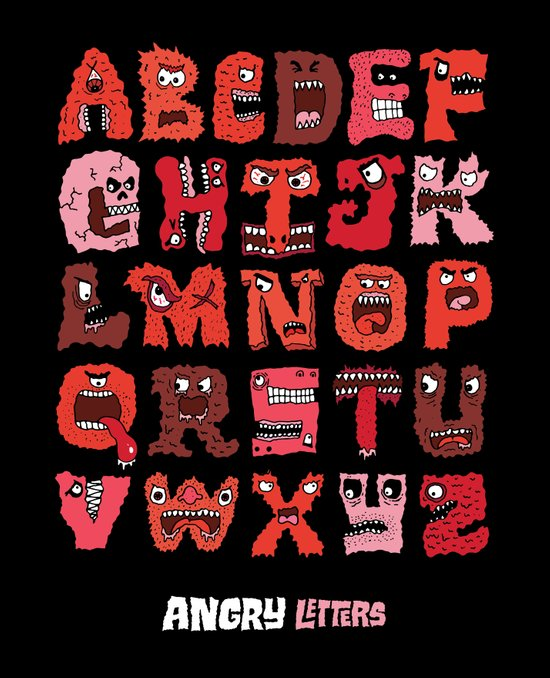 Angry Letters Art Print